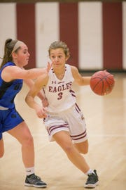 Mount Abraham's Chloe Johnston, right, is this week's girls athlete of the week.
