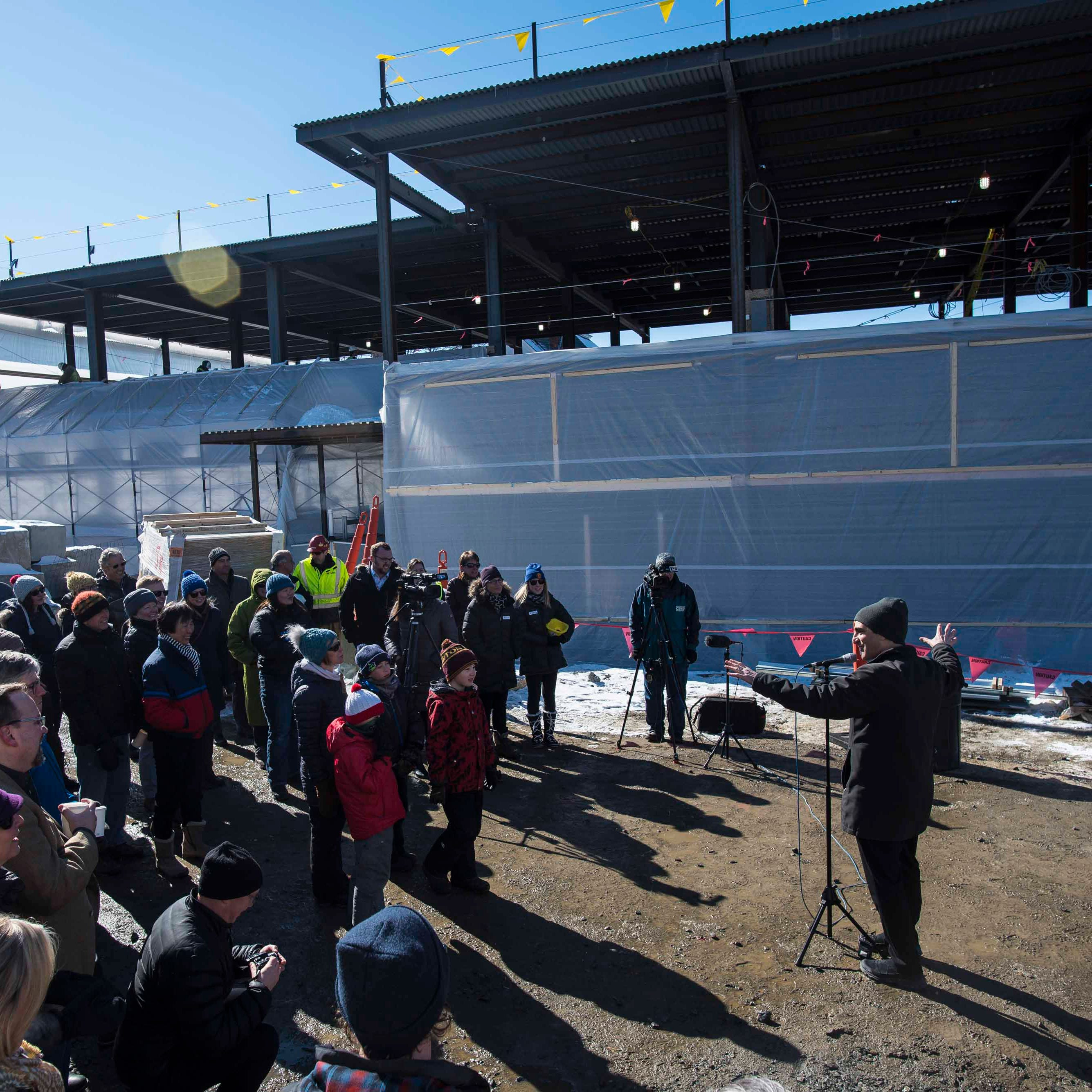 Burlington's new YMCA building has reached its final height