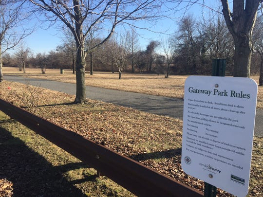 New park rule signs have been erected at Gateway Park, which will open March 11 from dawn to dusk. The park stretches along Admiral Wilson Boulevard and Cooper River from Pennsauken on the east end to Camden on the west.