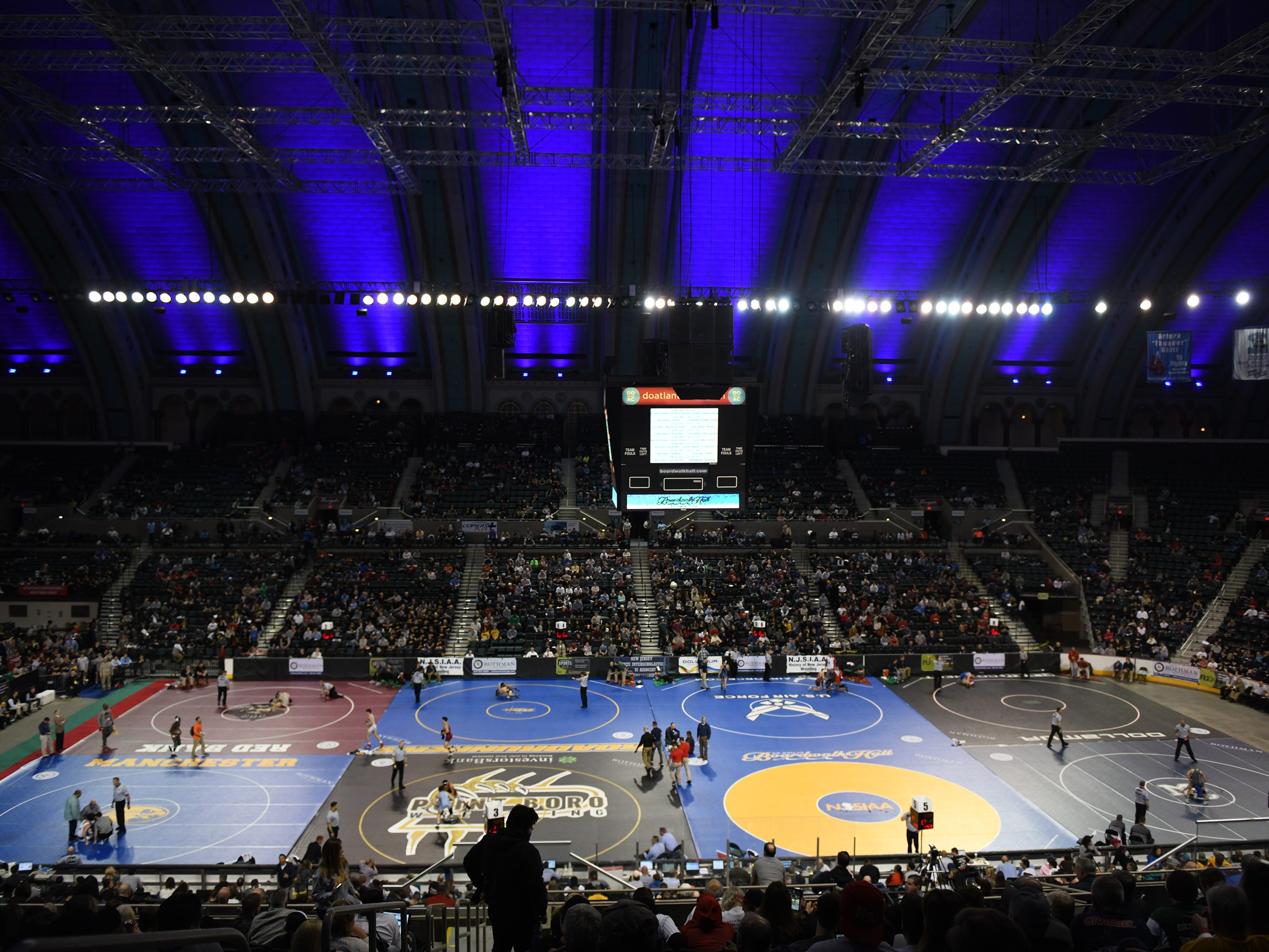 The 2019 NJSIAA State Wrestling Championships tournament kicked off at Boardwalk Hall in Atlantic City on Thursday, February 28, 2019.