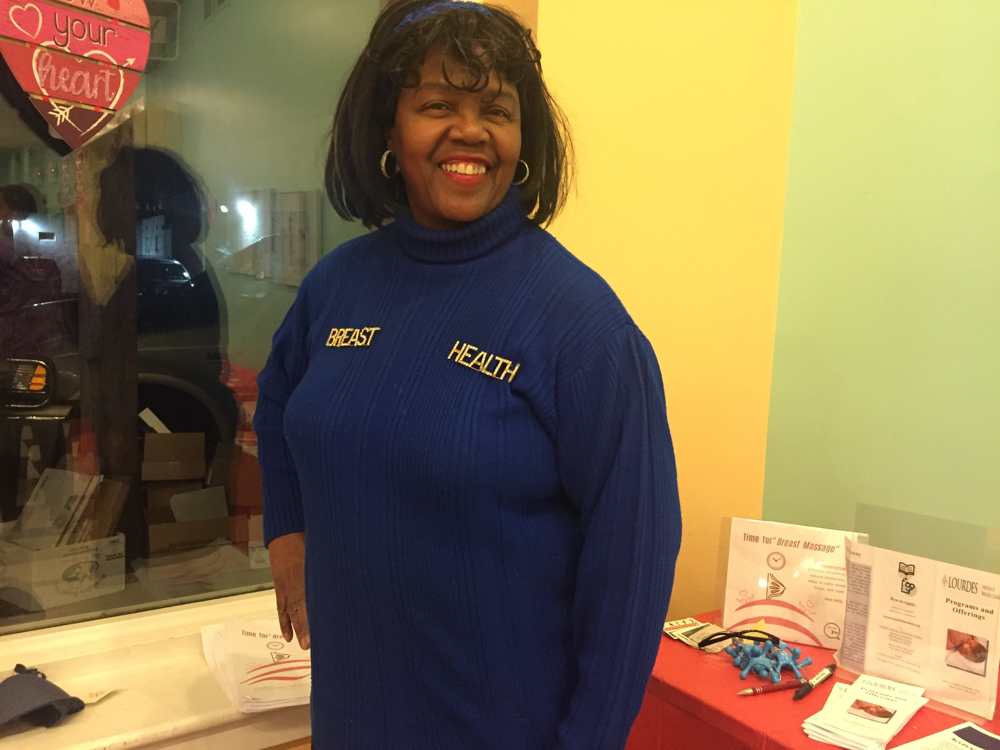 Dorothea Atkinson, a massage therapist and researcher at Lourdes Wellness Center, urged women to practice self-care during the second annual Galentine's Day event at The Pop Shoppe in Collingswood on Thursday, Feb. 28, 2019.