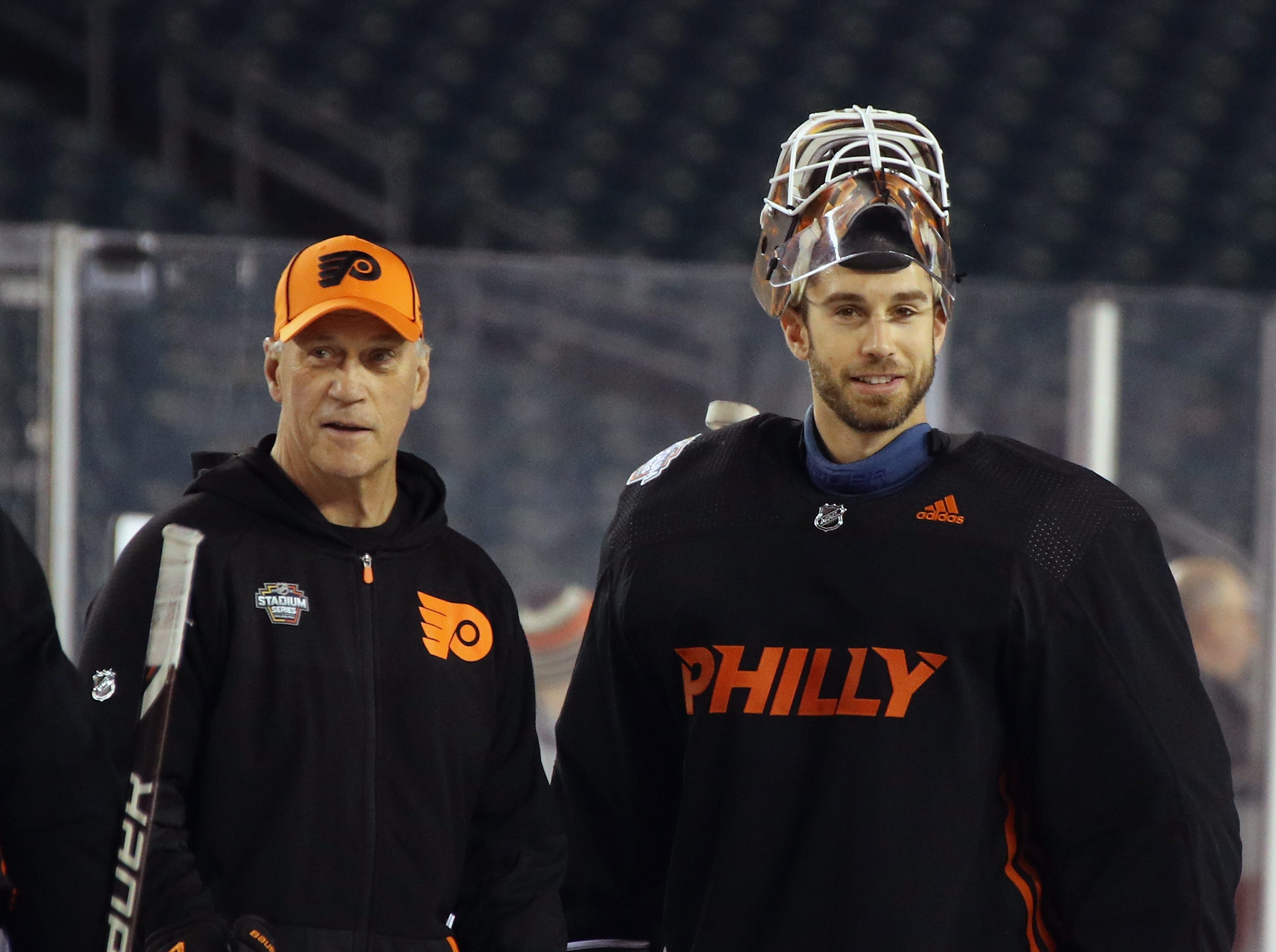 As Flyers break goalie record, Cam Talbot gets first look for next season