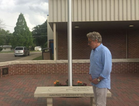 The Who's Roger Daltrey came to Finneytown High School on July 2, 2018, to meet with organizers and supporters of theP.E.M. Memorial Scholarship Fund.