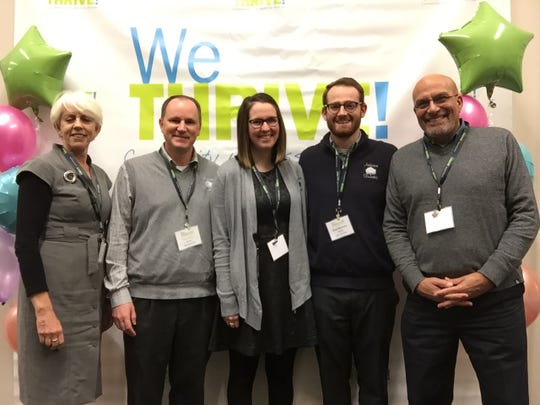 Hamilton County Public Health honored Anderson Township for its fourth year as a WeTHRIVE! community. WeTHRIVE! team members, from left: Dee Stone, Paul Drury, Brad Bowers, Sarah Donovan, and Tom Caruso (a WeTHRIVE! 2018 Community Champion).