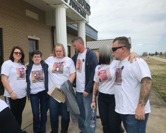 Shadow McClaine's family gathers outside a Fort Campbell, Ky. courthouse this week as Jamal Williams-McCray pleads guilty having her murdered to avoid the death penalty. He was hoping to get life with the possibility of parole.