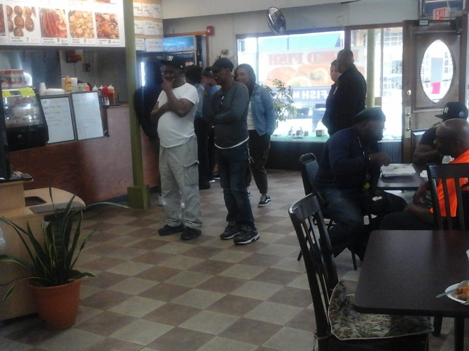 Inside Fresh Fish Market in Rahway.