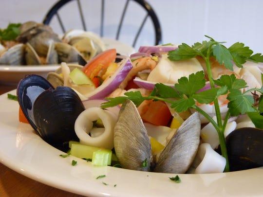 Seafood salad at Uncle Vinnie's Clam Bar in Raritan.