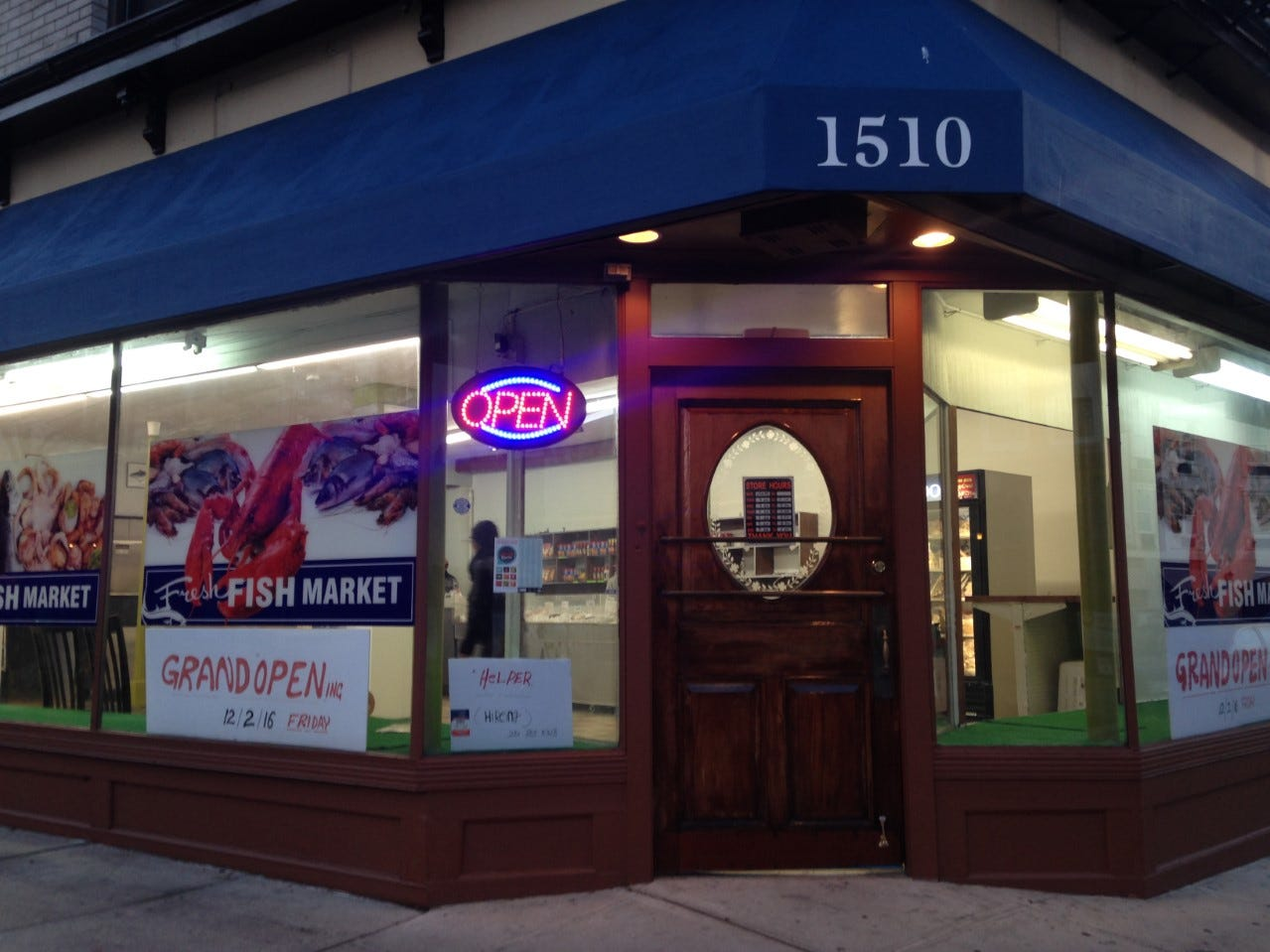 The exterior of Fresh Fish Market in Rahway.