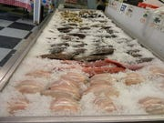 Fresh seafood at Pete's Fish Market in Plainfield.