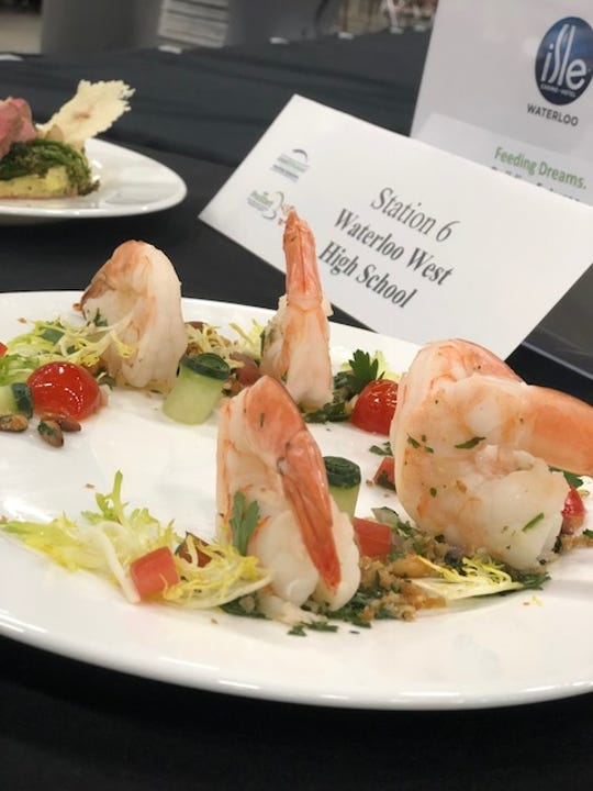 A picture of the winning dish from Des Moines Central Campus.