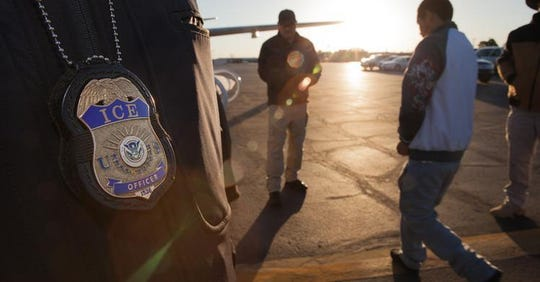 U.S. Immigration and Customs Enforcement (ICE) removes an immigrant detainee. Stock photo provided by ICE.