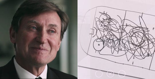 """Gretzky in a still from """"In Search of Greatness"""""""