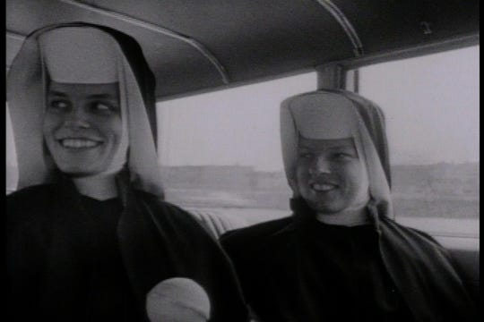 "This is a still from ""Inquiring Nuns"", playing Freep Film Festival 2019."