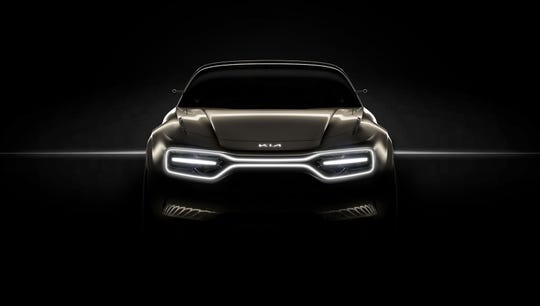 A Kia concept car will debut a new version of the brand's front styling