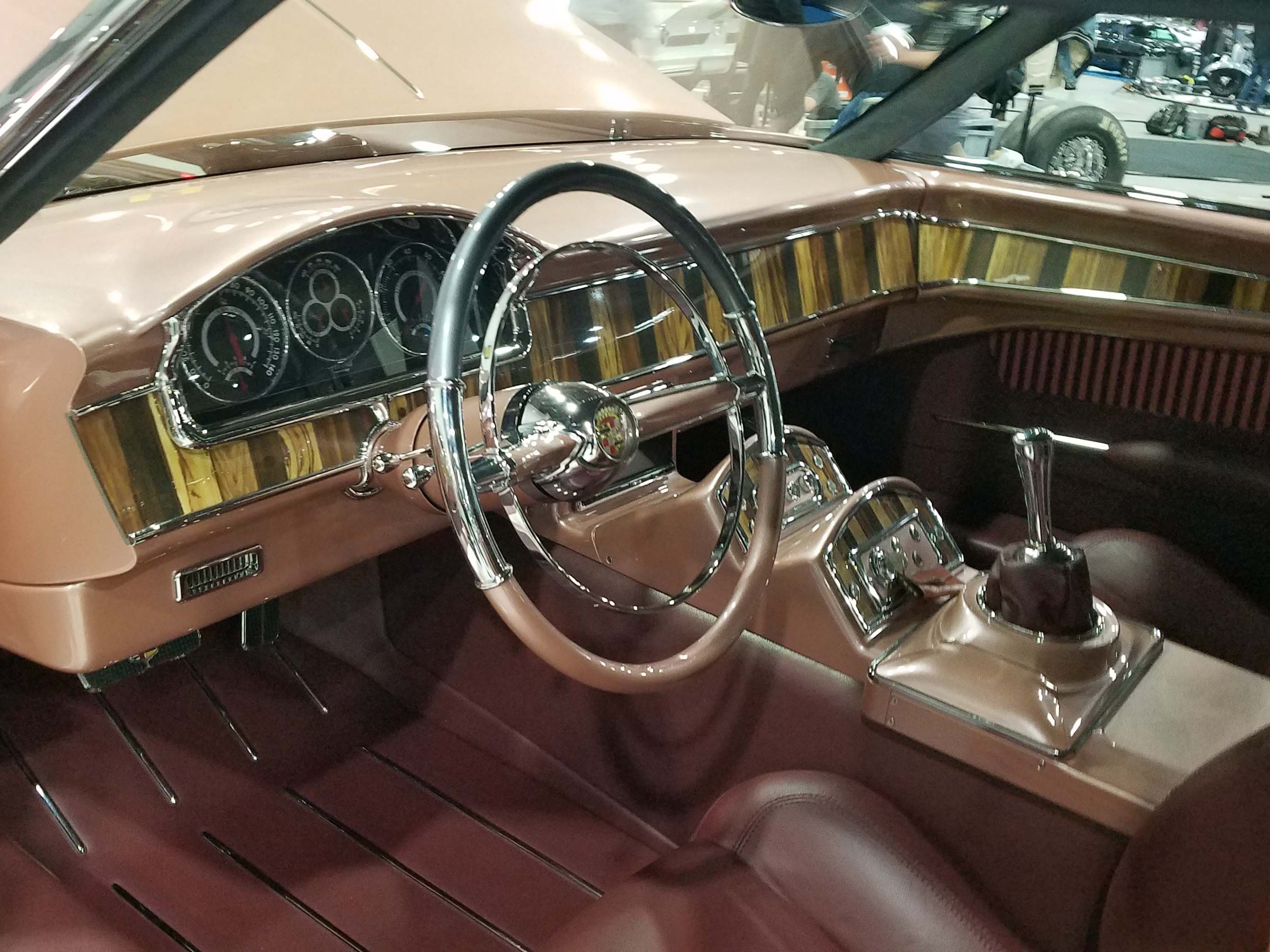 "The interior of the ""CadMad"" Caddy - custom-made for Autorama's Ridler Award."