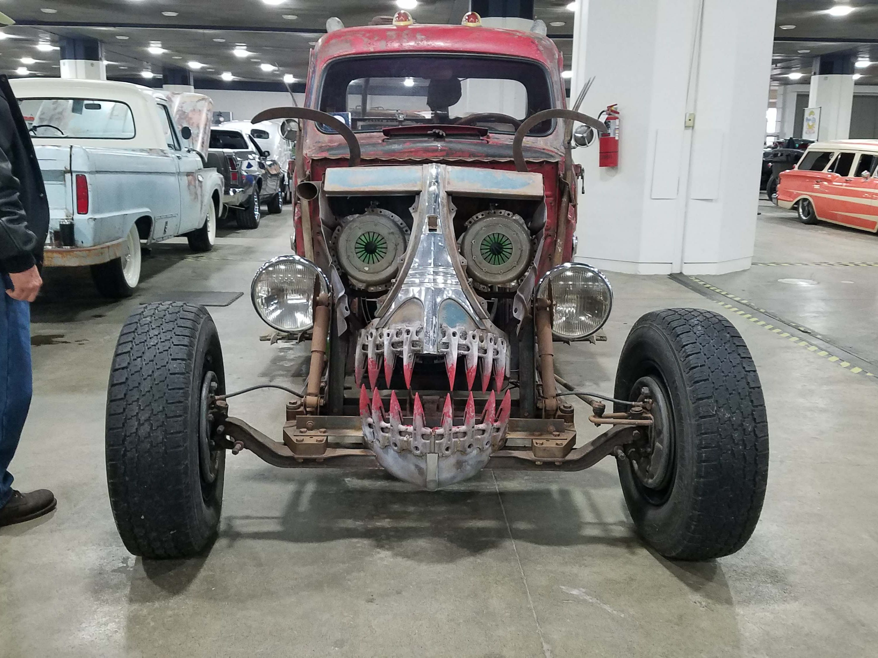 There's action in the basement at Autorama, too. This scary old jalopy will make you jump.