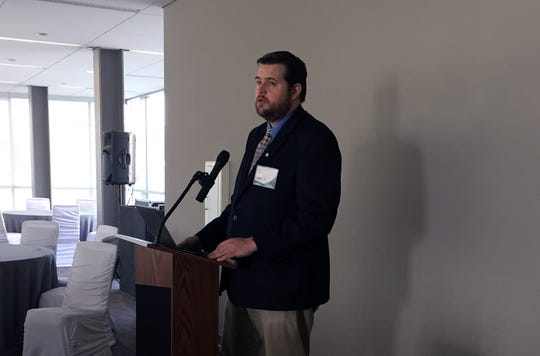 Detroit/Wayne County Port Authority Executive Director Kyle Burleson discusses the potential of the port as part of an initiative unveiled Friday.