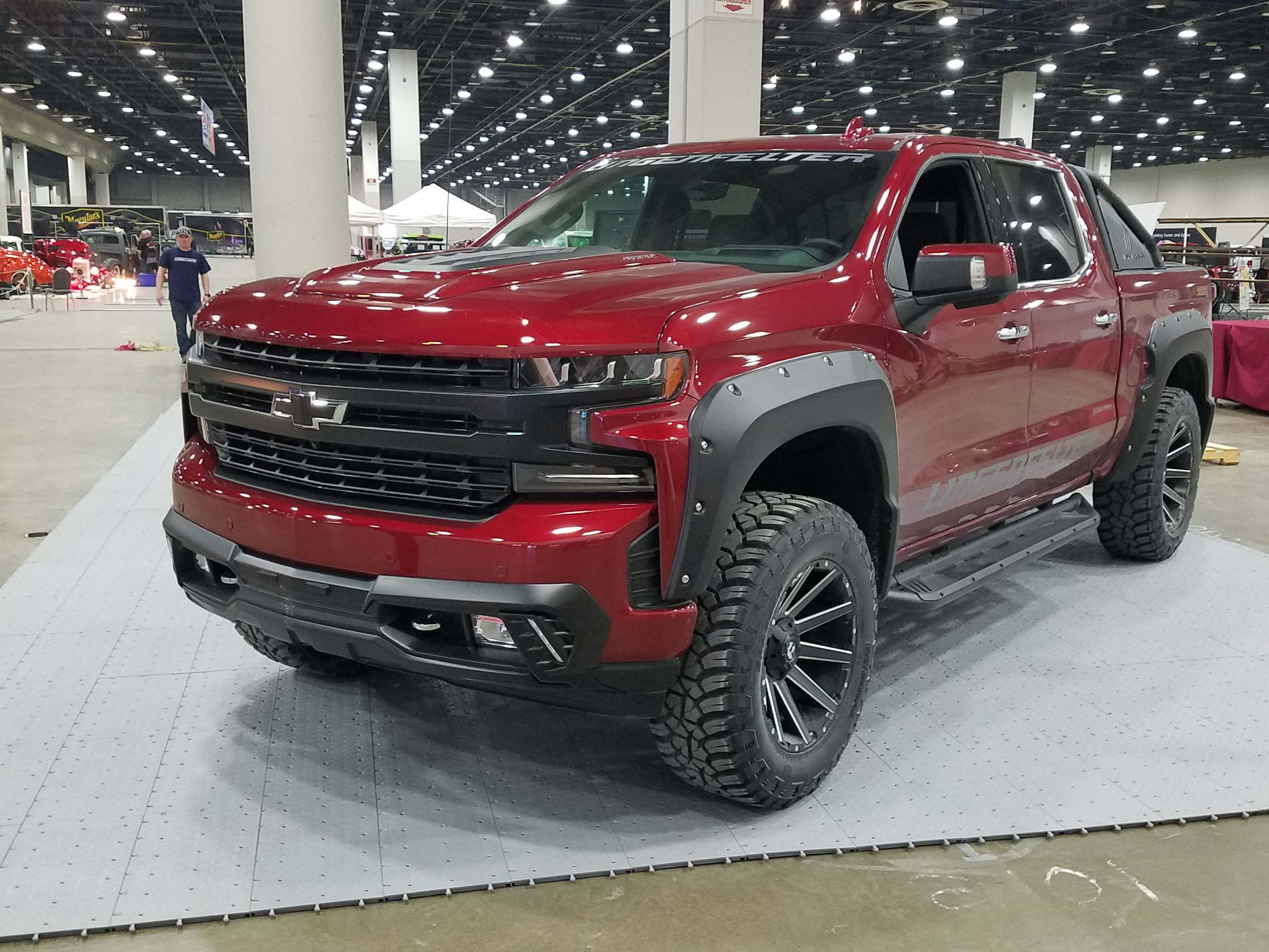 Mixing with the custom rods on the Autoramam floor are modern mod shops like Lingenfelter Engineering, which is showing off its new, modified, 2019 Chevy Silverado pickup. Vroom vroom.