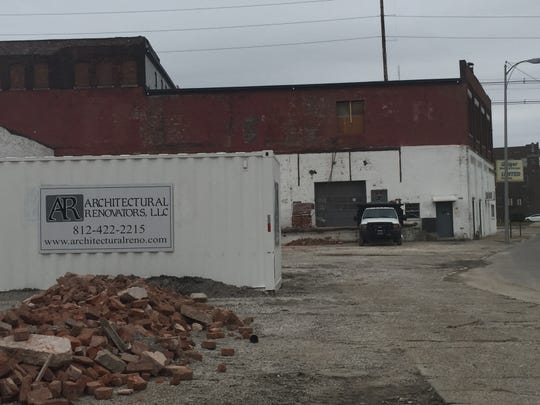 The former Geiger Moving and Building on the Northwest end of Downtown Evansville will include apartments as well as a restaurant run by the owners of Pangea Kitchen on the East Side.