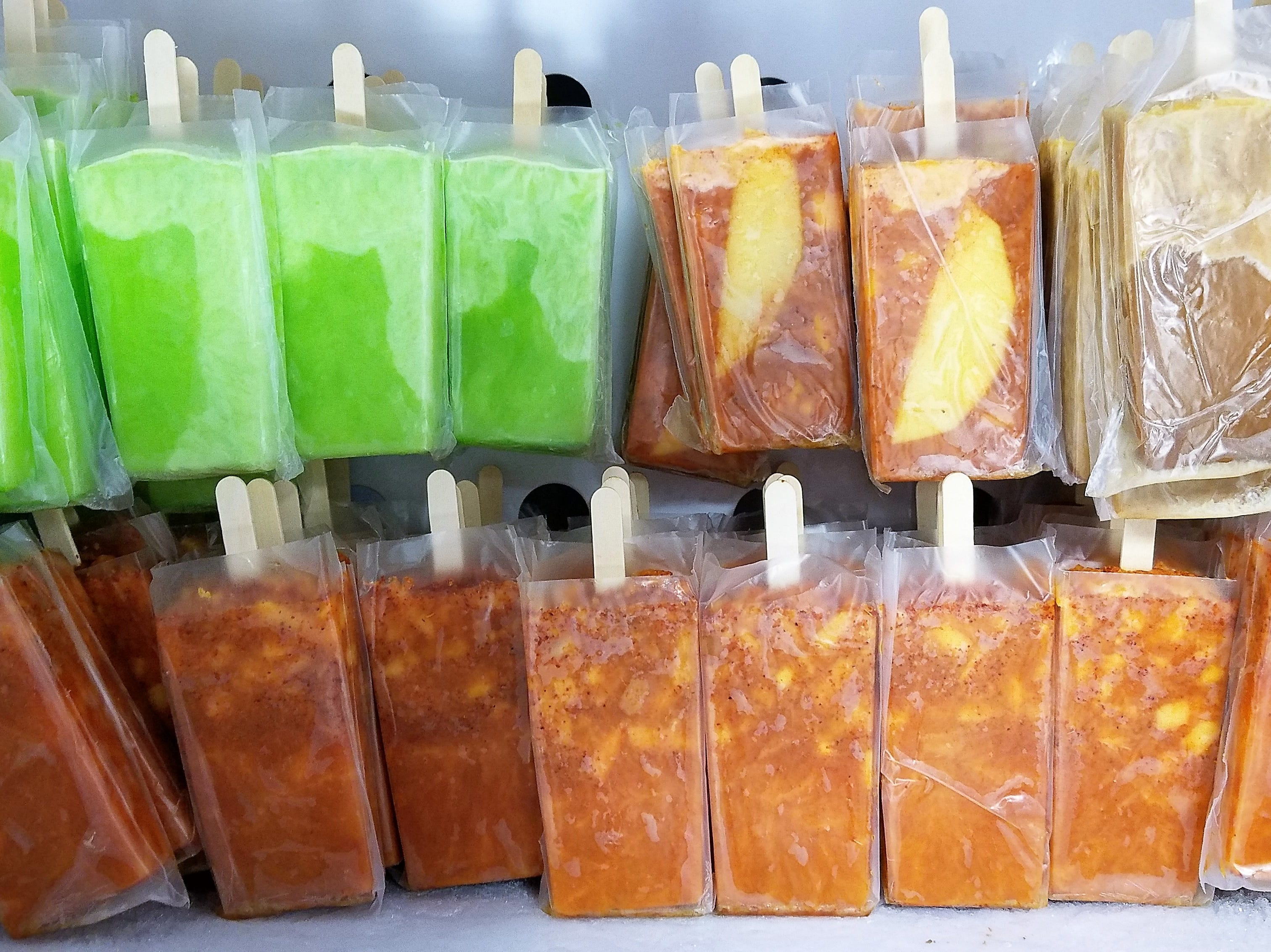 Summer is coming... it has to eventually. La Campirana offers many flavors of paletas, or iced fruit pops.