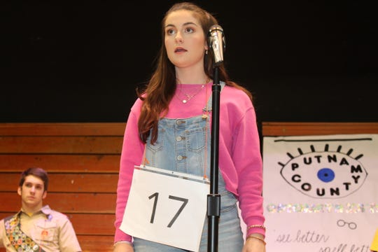 "Sarah Molyet will portray Olive in St. Joseph Central Catholic High School's upcoming presentation of the musical comedy ""The 25th Annual Putnam County Spelling Bee."" The musical runs March 8 and 9 at the school's performing arts center."