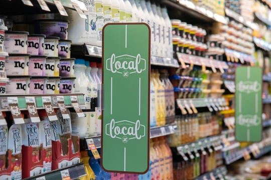Dairy products line refrigerated shelves in Lucky's Market on Friday, March 1, 2019, in preparation for next week's opening celebration. The store, located at 425 S. College Avenue, Fort Collins, will hold a grand opening on Wednesday, March 6, 2019.