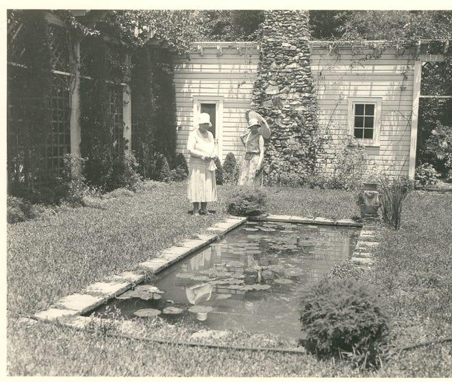 Mina, left, and Carolyn Edison in the Moonlight Garden