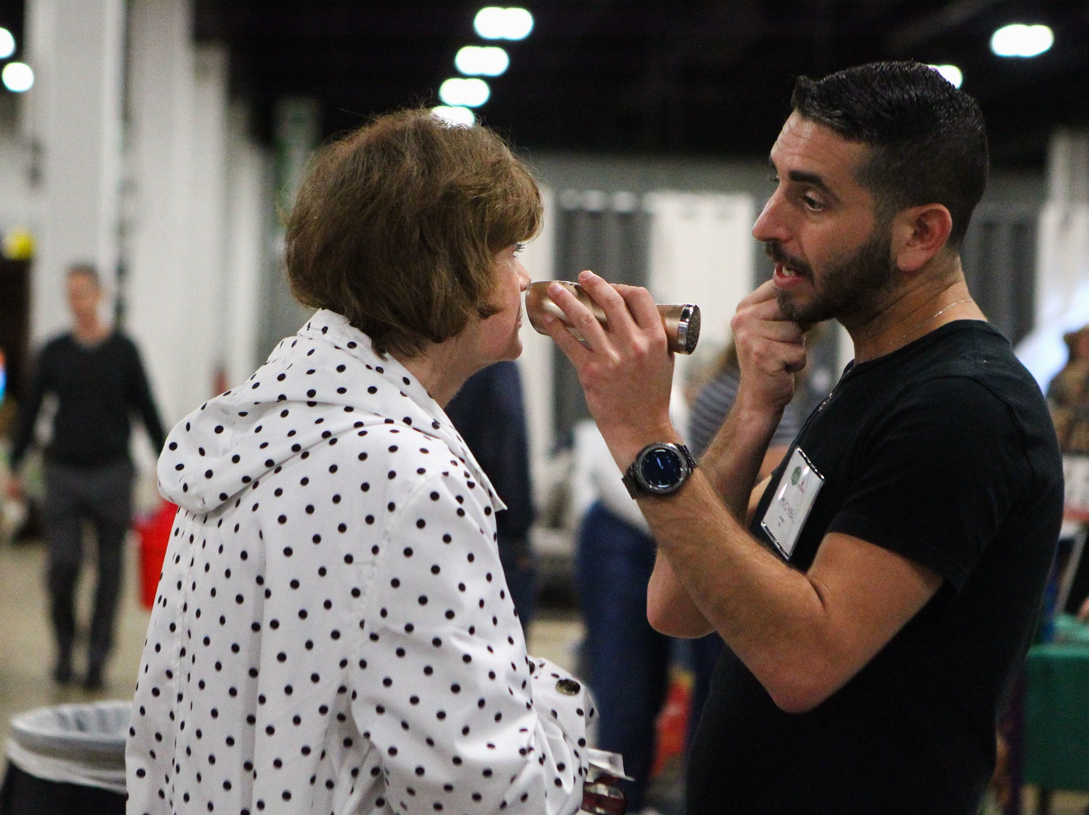 La Parfait Cosmetics showcase their product at the Southern Home and Garden Show at the Greenville Convention Center on Friday, March 1, 2019.