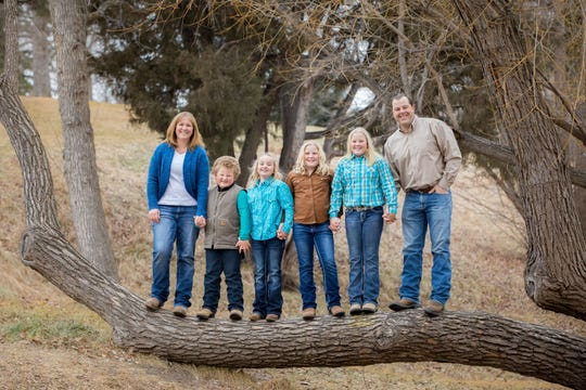 The family of Brandon and Julie (Bergum) Ewen includes daughters Hannah, Lyla and Jennifer, and son Blake.