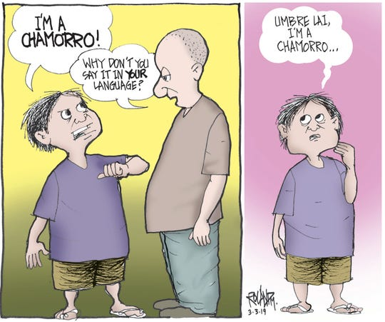 Sunday cartoon on CHamoru culture.