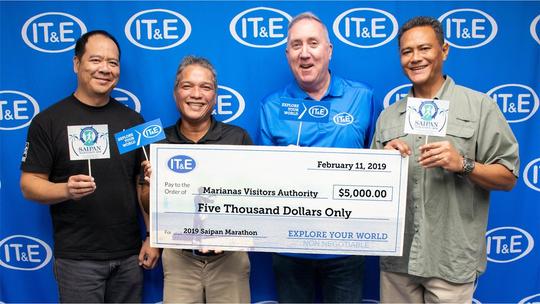 IT&E donates $5,500 on Feb. 11 for Saipan marathon.