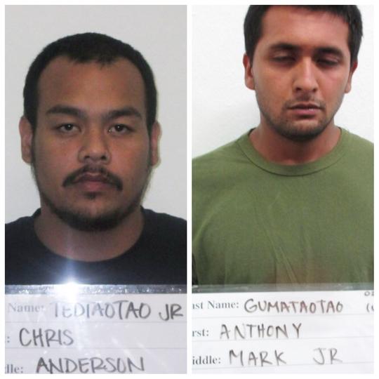 Chris Anderson Tedtaotao Jr. and Anthony Mark Jr Gumataotao