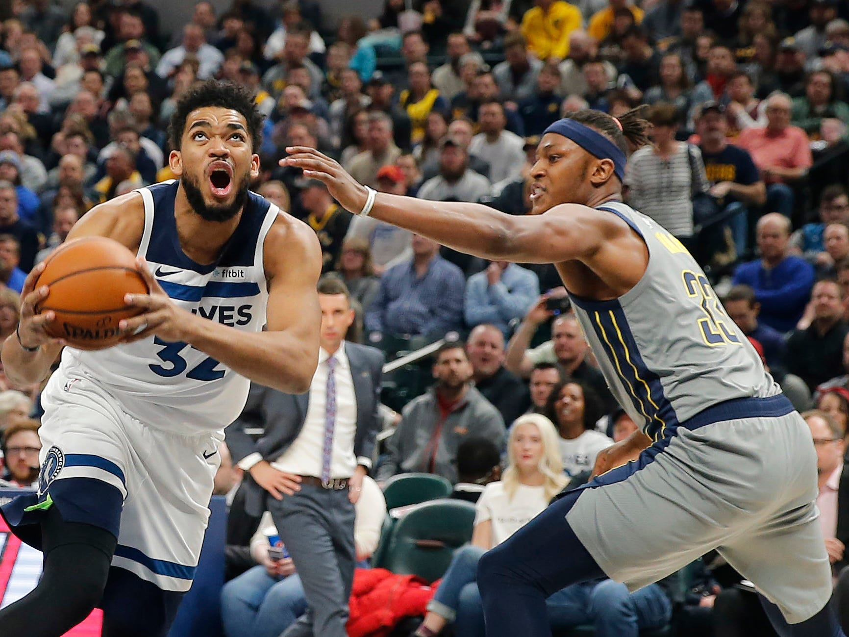Karl-Anthony Towns torches the Indiana Pacers in the first quarter