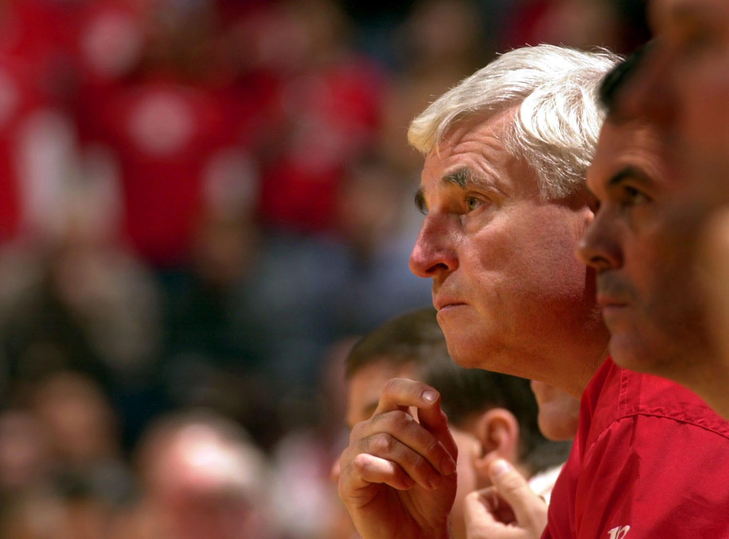 Bob Knight makes first public appearance at Indiana University since 2000 farewell speech