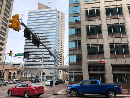 The KeyBank branch at 10 W. Market St. Suite 100 is one of 16 KeyBank branches that will close by the end of May 2019, the company said.