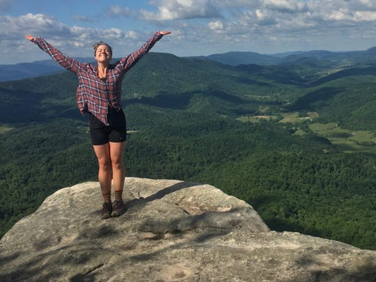 """Carmel resident and """"Naked and Afraid"""" competitor Whitney Hamblin picked up the nickname """"Indiana Stones"""" when hiking the Appalachian Trail in 2016."""