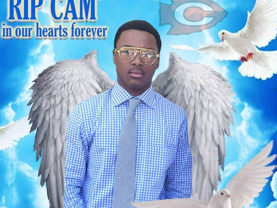 Cam'Ron Dowell of Clinton, Miss. appears in this illustration posted in memoriam on his Facebook page. Dowell, 15, died from injuries sustained in a car wreck with childhood friends Feb. 23, 2019 in Jackson.