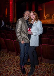 Michael and Cheri Torano, married just five months ago but together much longer, enjoyed the ceremony and the show. Feb. 22, 2019.
