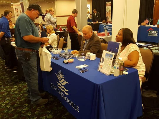 The City of Knoxville, Knox County, and other large entities – including Nashville International Airport – are eager to network with small, minority and women-owned businesses at the Diversity Business Expo on March 14. It's the first such expo; this picture is from a general networking event in 2018.
