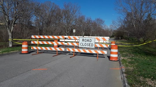 Mapletree Drive in the Sedgefield subdivision was the only road in Farragut still closed as of Friday. A 60-inch storm drain pipe failed during the recent flooding, causing the pavement to sink. Installed in 1987, the pipe is 14 feet underground and 175 feet long. Full replacement of the pipe is expected to take a couple of weeks.
