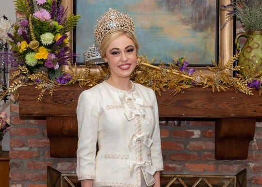 Queen Evangeline- Madeline Mercer Busch. Friday, March 1, 2019.