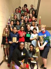 Paul Breaux Middle School's speech team is racking up trophies.