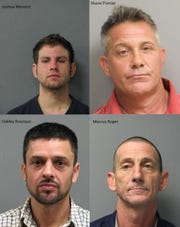 Joshua Menard, Shane Pomier, Oakley Bourque and Marcus Roger all were arrested Thursday for their alleged role in stealin $1.2 million worth of copper wire from oilfield equipment