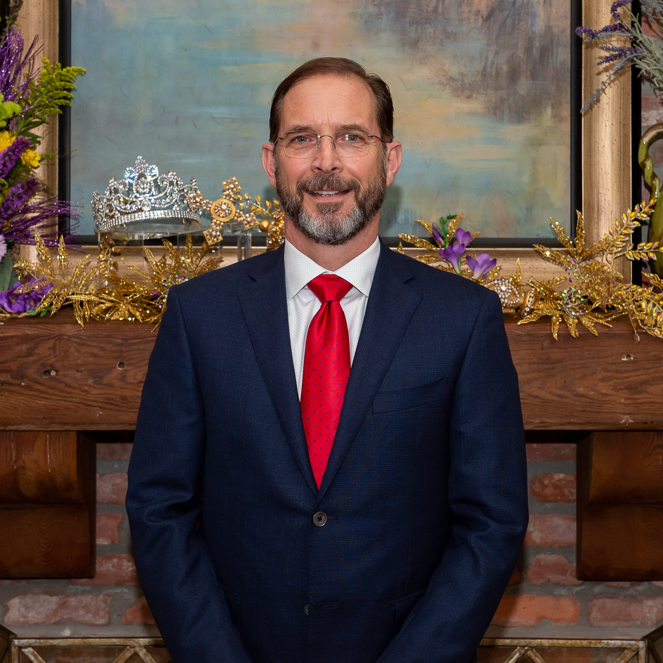 Meet the king of Mardi Gras, King Gabriel, Dr. Thomas Montgomery