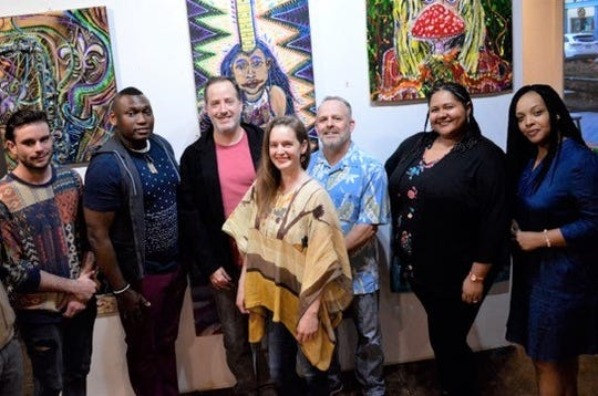 The Omni Center offers creatives exciting new option to showcase their talents (From left to right: Josh LeBlanc, Joshua Wright, Robert Guercio, Angela Briscoe, Kerry Griechen, LaKaisha Powell, and Jessica Dugar)