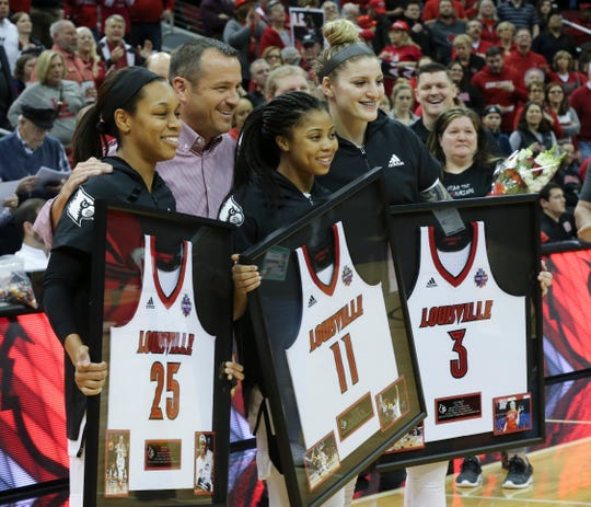 Arica Carter (11) and Sam Fuehring (3) could have professional futures, in the WNBA or other leagues.