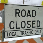 The inside westbound lane of Michigan Avenue is closed just west of Harrison Road.