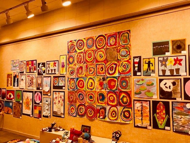 Art displays for Manitowoc Youth Art Show