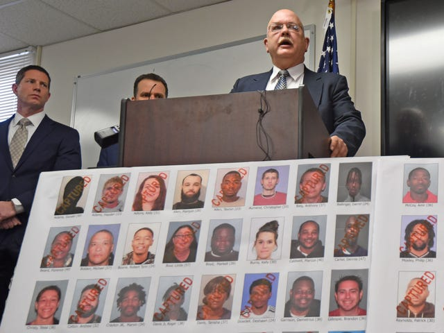 43 drug trafficking suspects arrested during Mansfield and