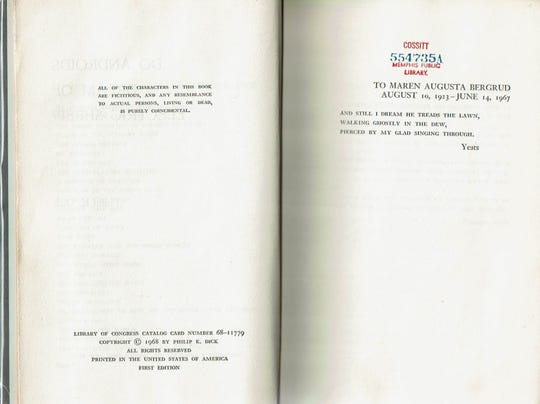 """The Friends of the Memphis Library found and sold this 1968 first-edition copy of """"Do Androids Dream of Electric Sheep?"""" for $1,250."""